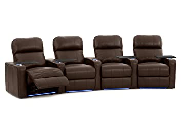 Octane Seating Turbo XL700 Home Theater Power Recline - Lighted Cup Holders & Baserail - Row