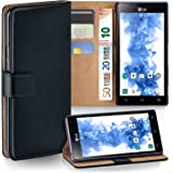 MoEx LG P880 Optimus 4X HD Hülle Schwarz mit Karten-Fach [OneFlow 360° Book Klapp-Hülle] Handytasche Kunst-Leder Handyhülle für LG Optimus 4X HD Case Flip Cover Schutzhülle Tasche