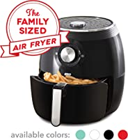Dash DFAF455GBAQ01 Deluxe Electric Air Fryer + Oven Cooker with with Temperature Control, Non Stick Fry Basket, Recipe Guide