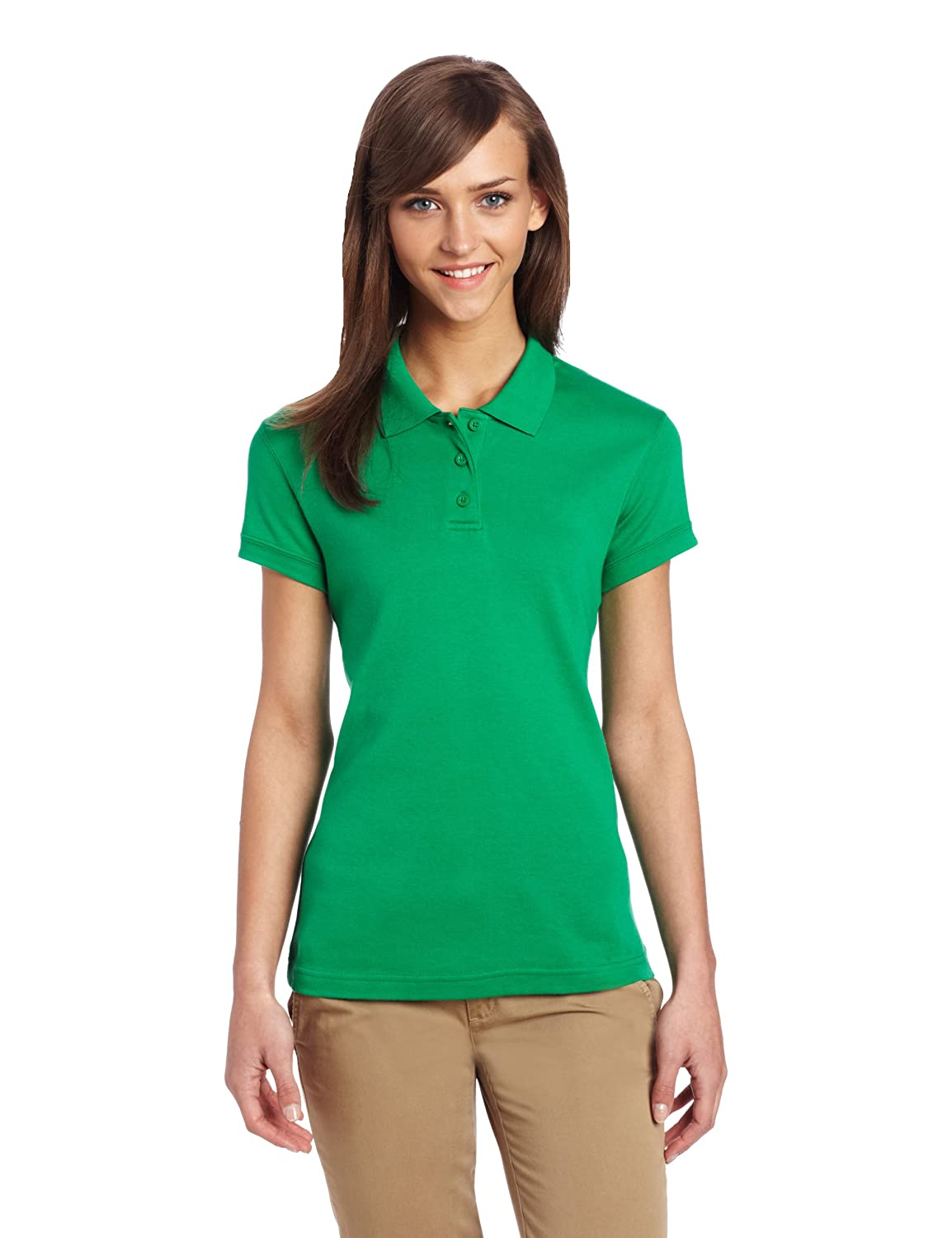 CLASSROOM Juniors' Short-Sleeve Fitted Polo Shirt Classroom Uniforms Classroom Juniors Uniforms 58584-P