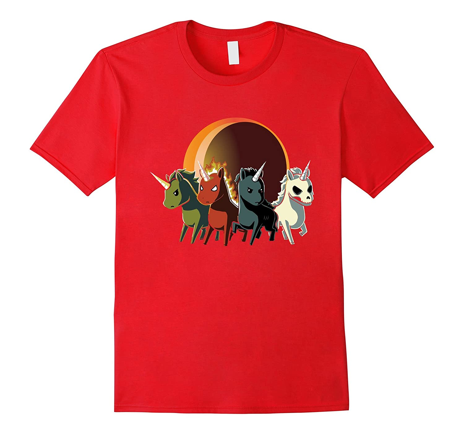 Four Unicorns of The Apocalypse T-shirt - Unicorns are Great-FL
