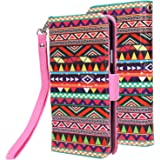 Note 3 Lite Case, Galaxy Note 3 Lite Case Cover, E LV Samsung Galaxy Note 3 Lite Case Cover Flip Folio [Magnetic Closure] Full Body Protection with Stand Feature, Card Slots for Samsung Galaxy Note 3 Lite - TRIBAL (NOT COMPATIBLE FOR N9000)