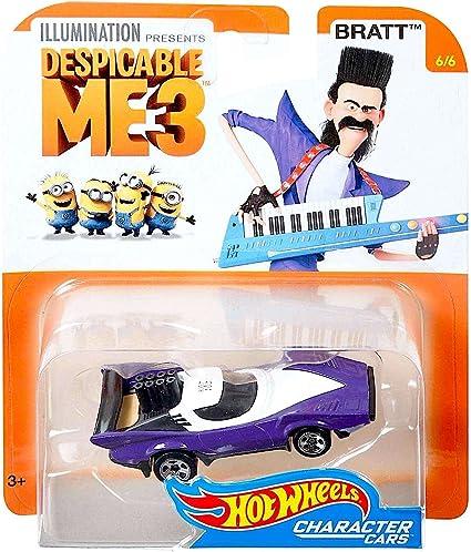Amazon Com Despicable Me 3 Bratt 6 6 Hot Wheels Pop Culture Character Car Toys Games