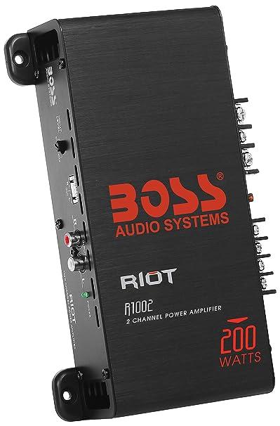 Amazon.com: BOSS Audio R1002 - Riot 200 Watt, 2 Channel, 2/4 Ohm ...