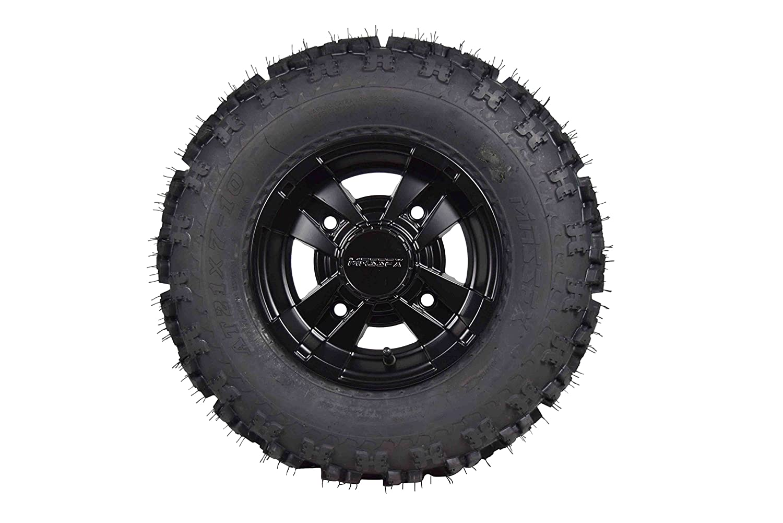 Front 21x7-10 MASSFX Tire W Black MASSFX 10x5 4//156 Rim 2 PACK Yamaha Banshee 350 /& Raptor 700 2006-Present 1987-2006