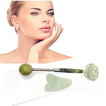 Gesichts-SPA Massage Jade Stone Roller Gesichtsbehandlung Anti-Aging-Therapie