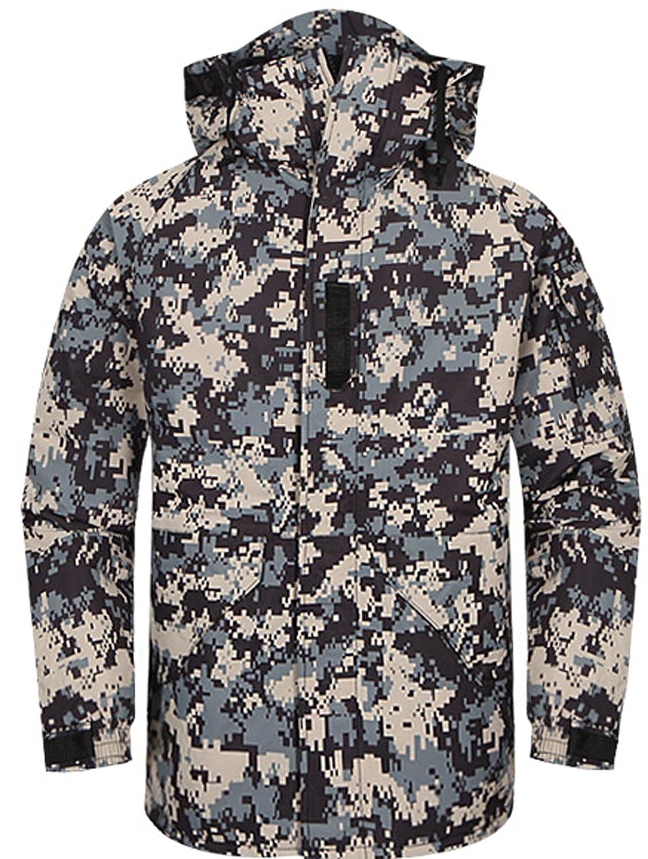 Southplay Herren Camouflage mit Kapuze wasserdichte Winter Snowboard-Militärdunkel Khaki