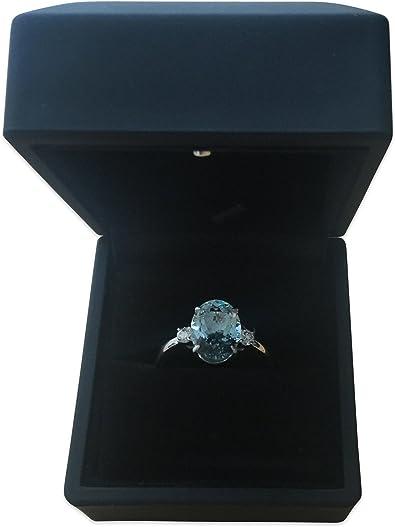 Caja con luz interior LED ideal para anillo compromiso o de boda: Amazon.es: Joyería