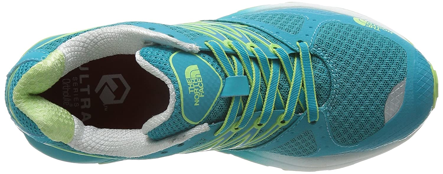 The North Face W Ultra Cardiac, Chaussures de Running Entrainement Femme, Bleu-Azul (Bluebird/Budding Green), 40 EU