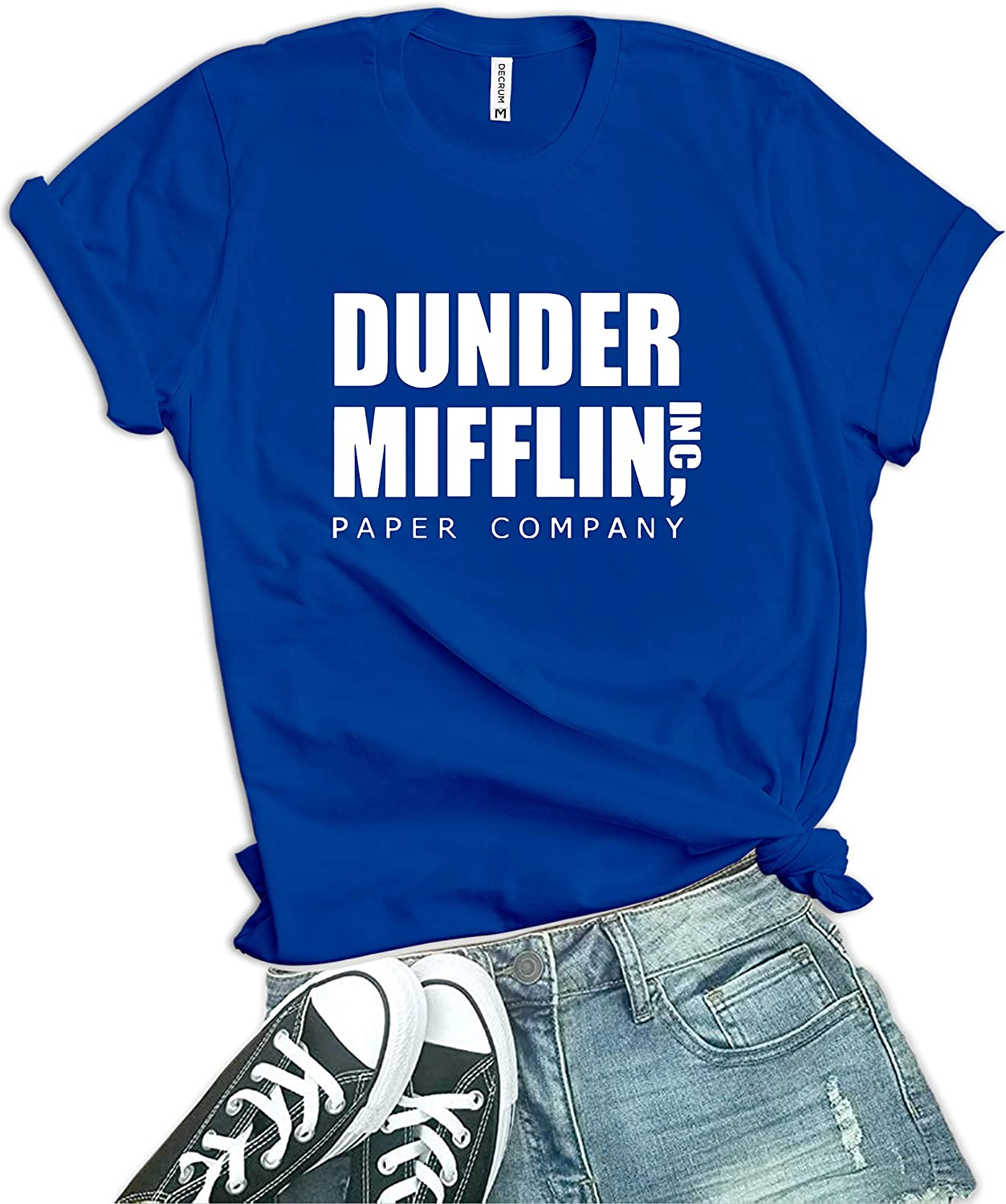 Womens Black Dunder Office Mifflin Shirt Merchandise