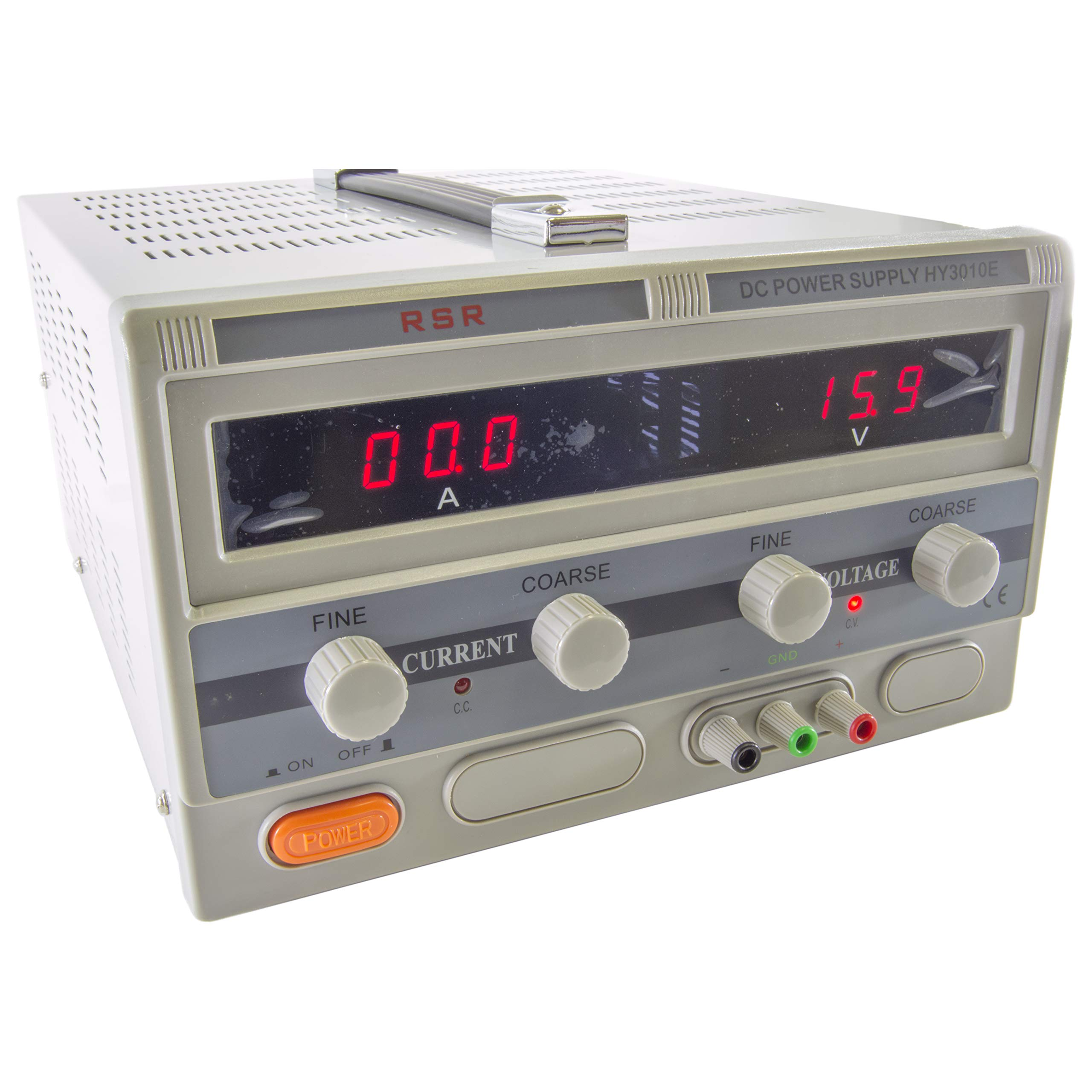 Science Purchase HY3010E Variable Single Output, DC Power Supply, Digital 0 to 30V @ 0-10A