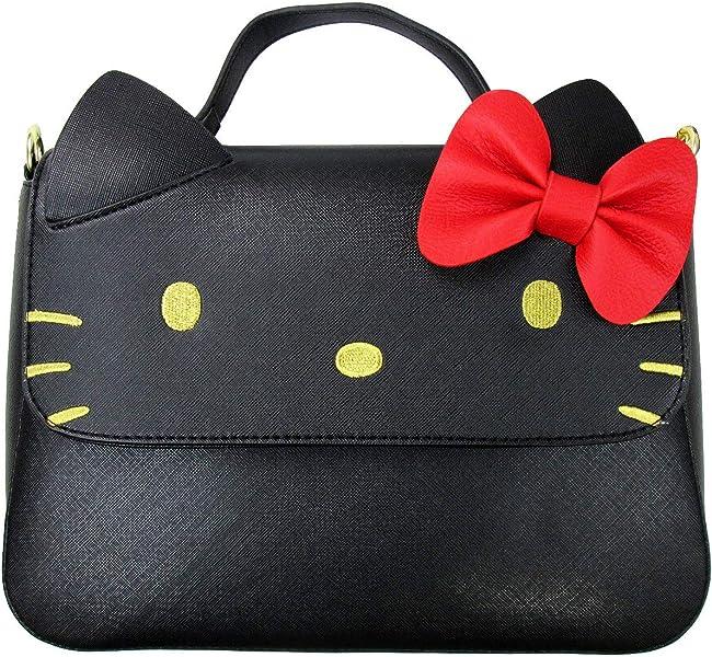 4ec00fd82 Loungefly x Sanrio Hello Kitty Black Crossbody Bow Bag (One Size, Black)
