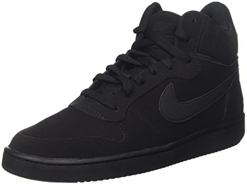new product 2f559 216b2 Nike Men s Court Borough MID Black Basketball Shoes-10 UK India (45EU)