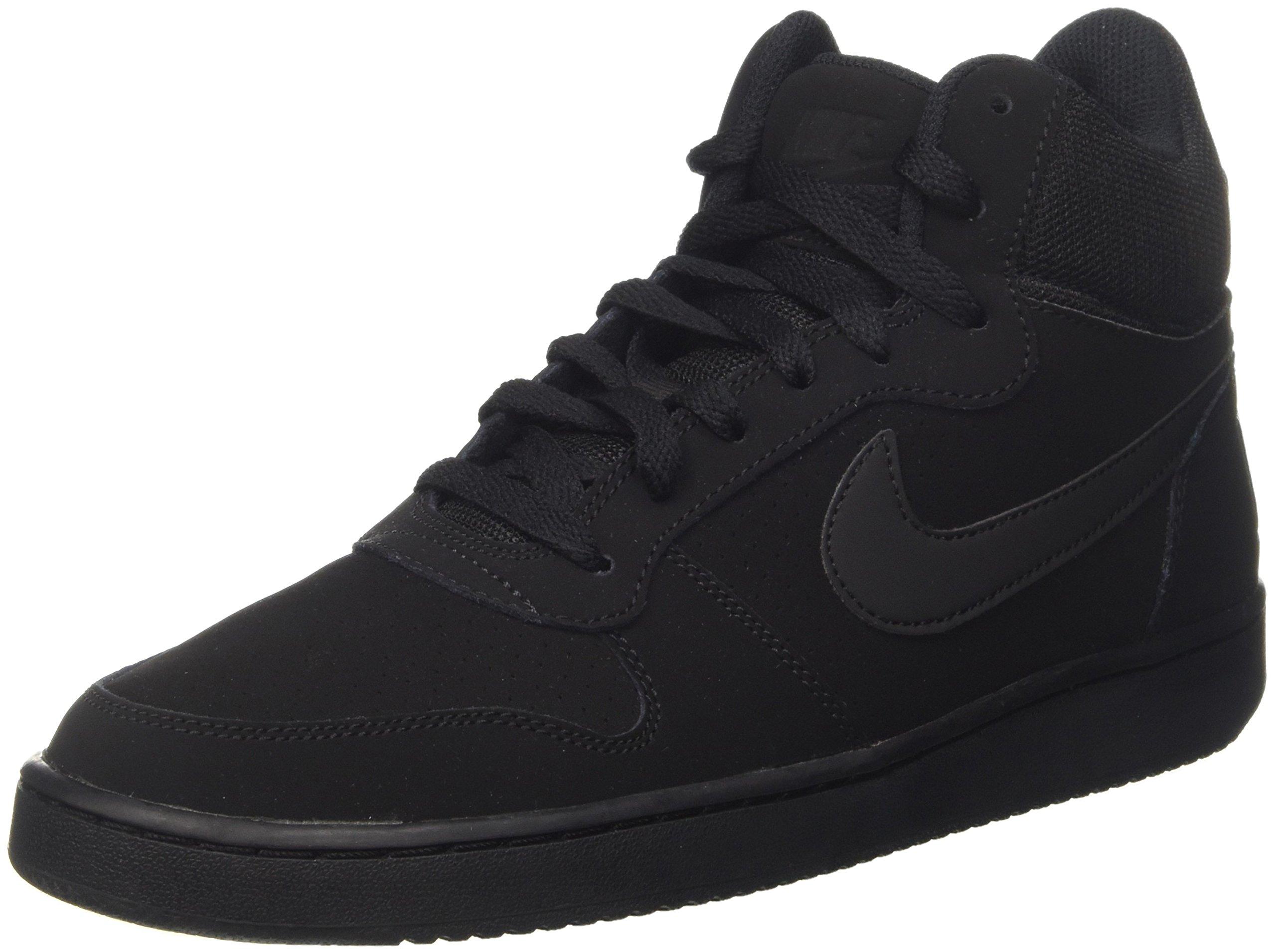 980d3dce7ecdd Galleon - NIKE Men's Court Borough Mid Basketball Shoe, Black, 9 D US