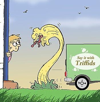 Twizler Carte Humoristique Avec Femme Et Triffids Blank Card