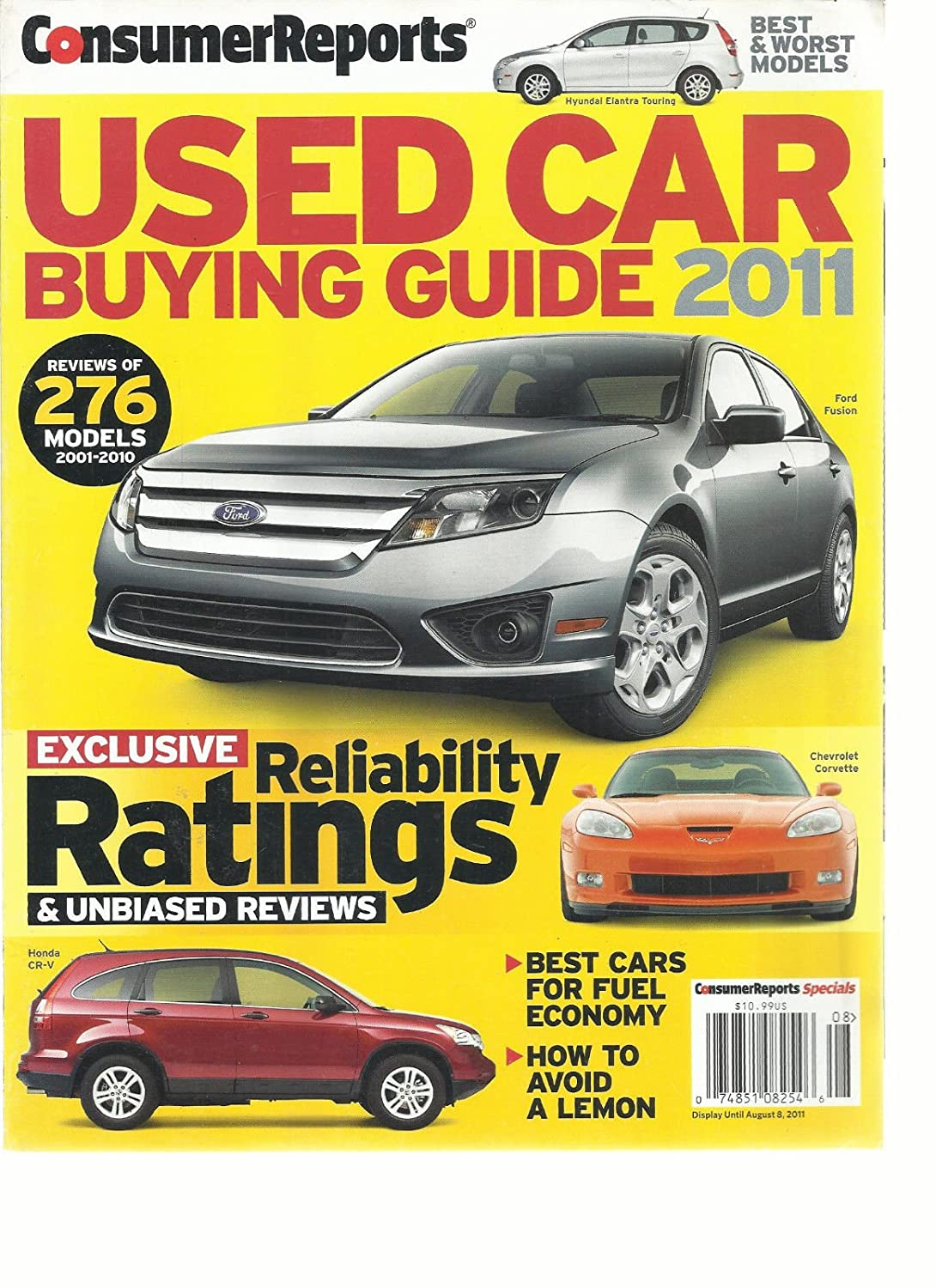 Amazon.com: CONSUMER REPORTS MAGAZINE, USED CAR BUYING GUIDE, 2011 BEST &  WORST MODELS: Everything Else