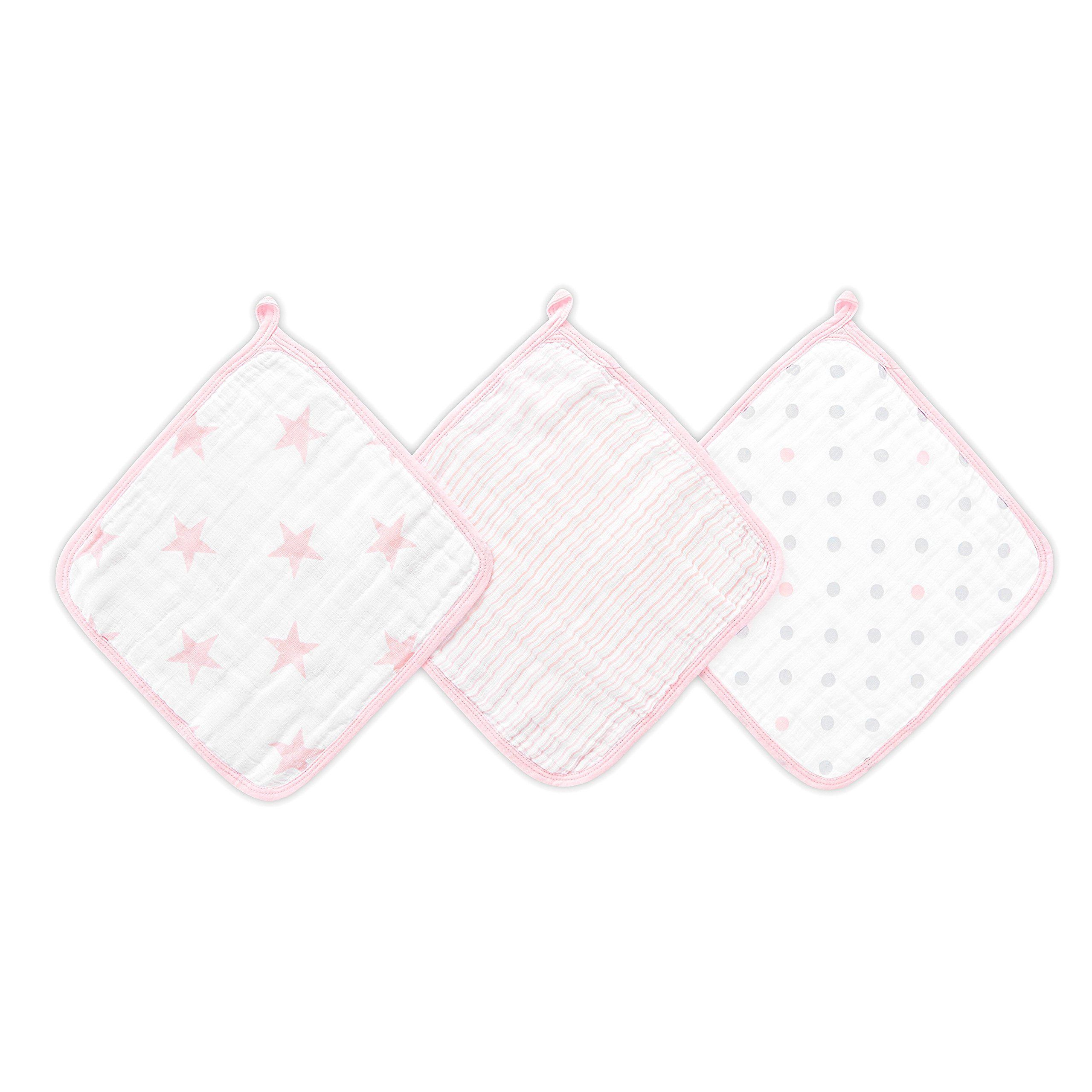 Aden by Aden + Anais washcloths 3 Pack, Doll