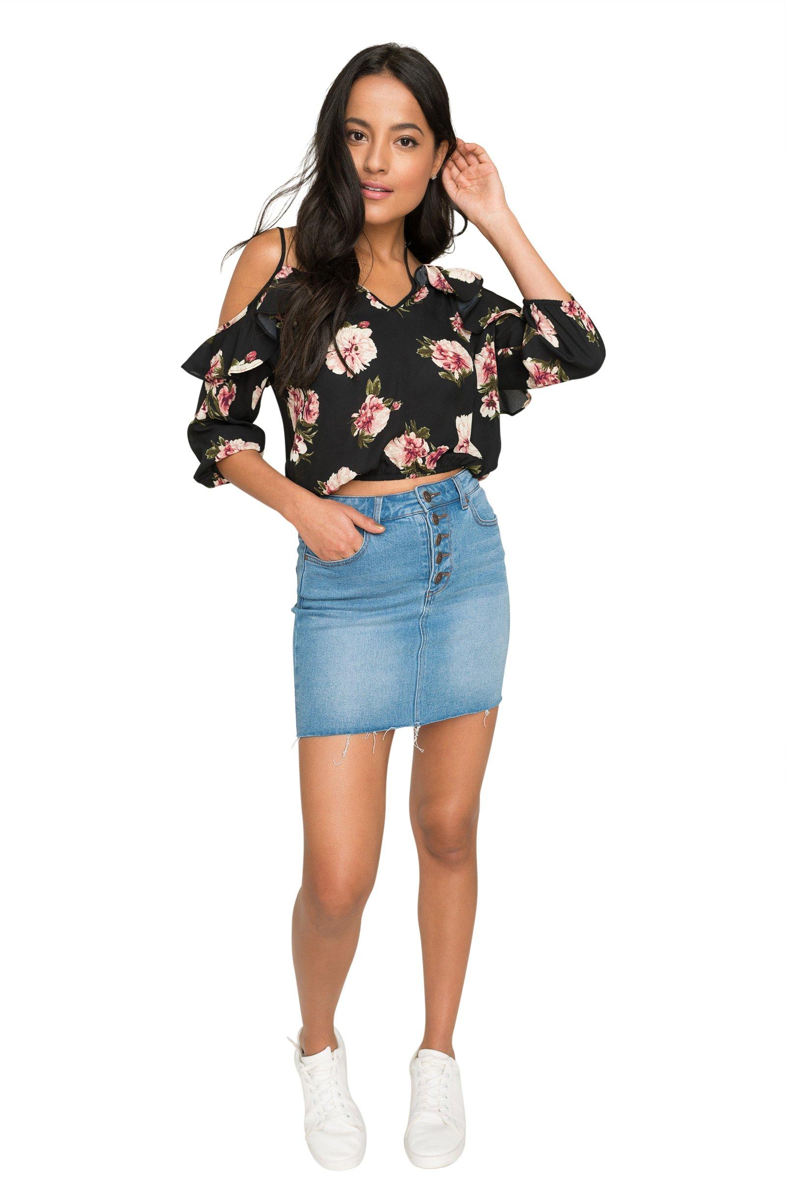 b086850889c453 Ardene - Women s - Shirts   Blouses - Cold Shoulder Crop Top Small  -(8A-AP01323)