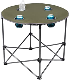 Internetu0027s Best Camping Folding Table | 4 Cup Holders | Outdoor | Quad |  Carrying Bag