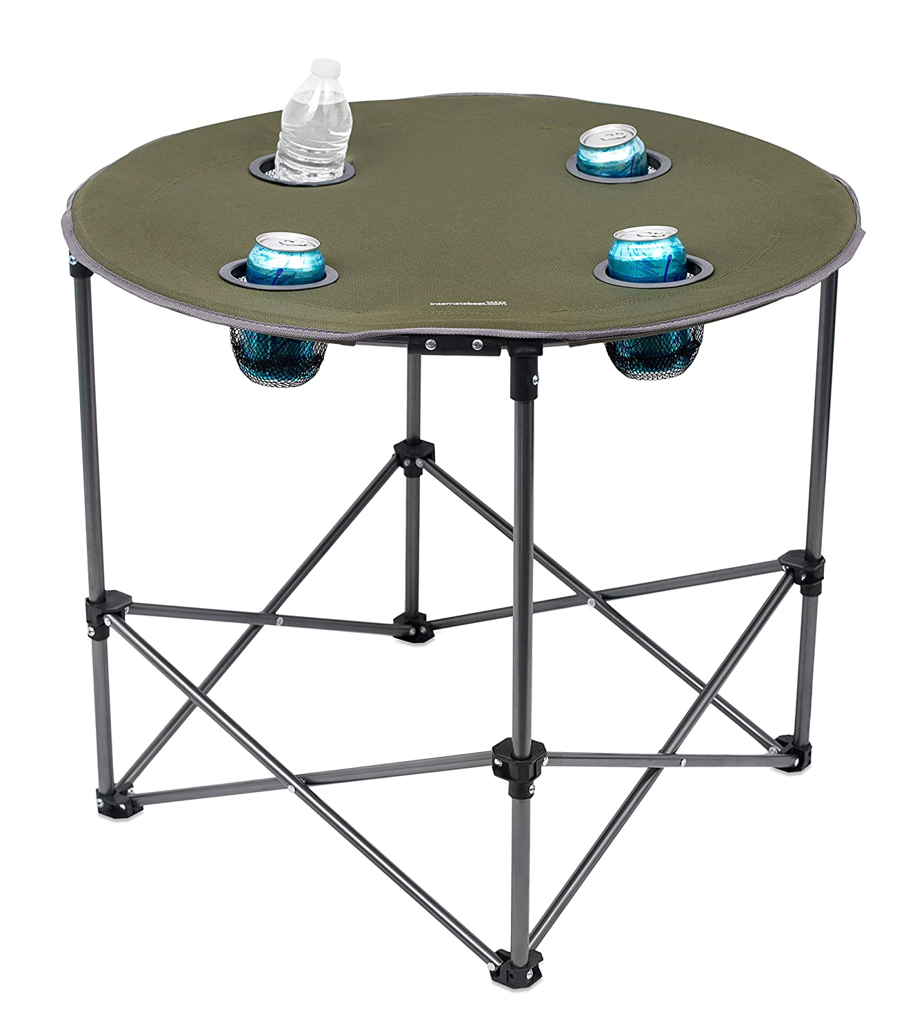 Beau Amazon.com : Internetu0027s Best Camping Folding Table   4 Cup Holders   Green    Outdoor   Quad   Carrying Bag   Lightweight : Sports U0026 Outdoors