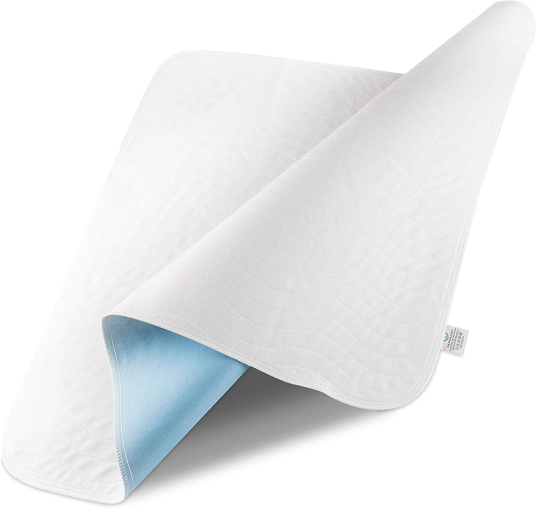 atmungsaktiv Sensalou N/ässeschutz 75 x 90 cm f/ür Kinder Baby Bett Matratze wasserdicht waschbar