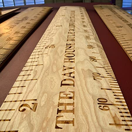 Wildash London Personalised Deluxe Bevelled Wooden Ruler Height Chart  (Solid Ash)  Amazon.co.uk  Kitchen   Home d58f4a1b57c5