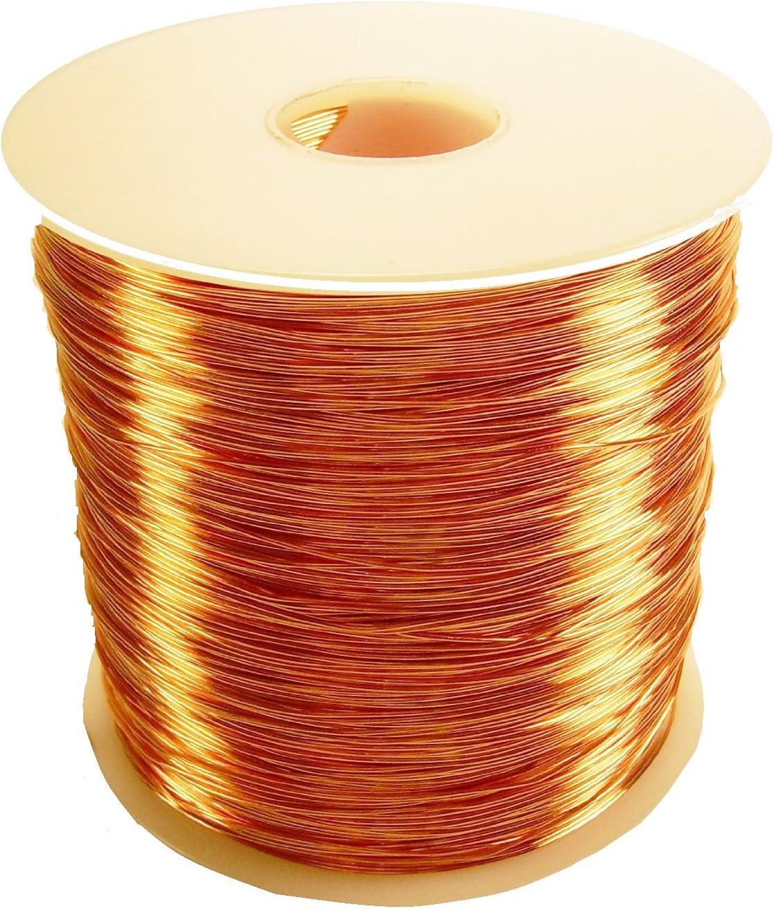 22 Ga Solid Copper Half Hard Round Wire 5 Oz 170 Ft Spool  Real Copper wire