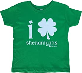 1b49a0798 Fayfaire Toddler St.Patricks Day Shirt: Boutique Quality Adorable Shamrock  Shenanigans 2T-4T