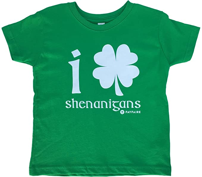 94000723 Fayfaire Toddler St.Patricks Day Shirt: Boutique Quality Adorable Shamrock  Shenanigans 2T-4T