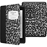 MoKo Case Fits Kindle Paperwhite (10th Generation, 2018 Releases), Thinnest Lightest Smart Shell Cover with Auto Wake/Sleep for Amazon Kindle Paperwhite 2018 E-Reader - Notebook Black