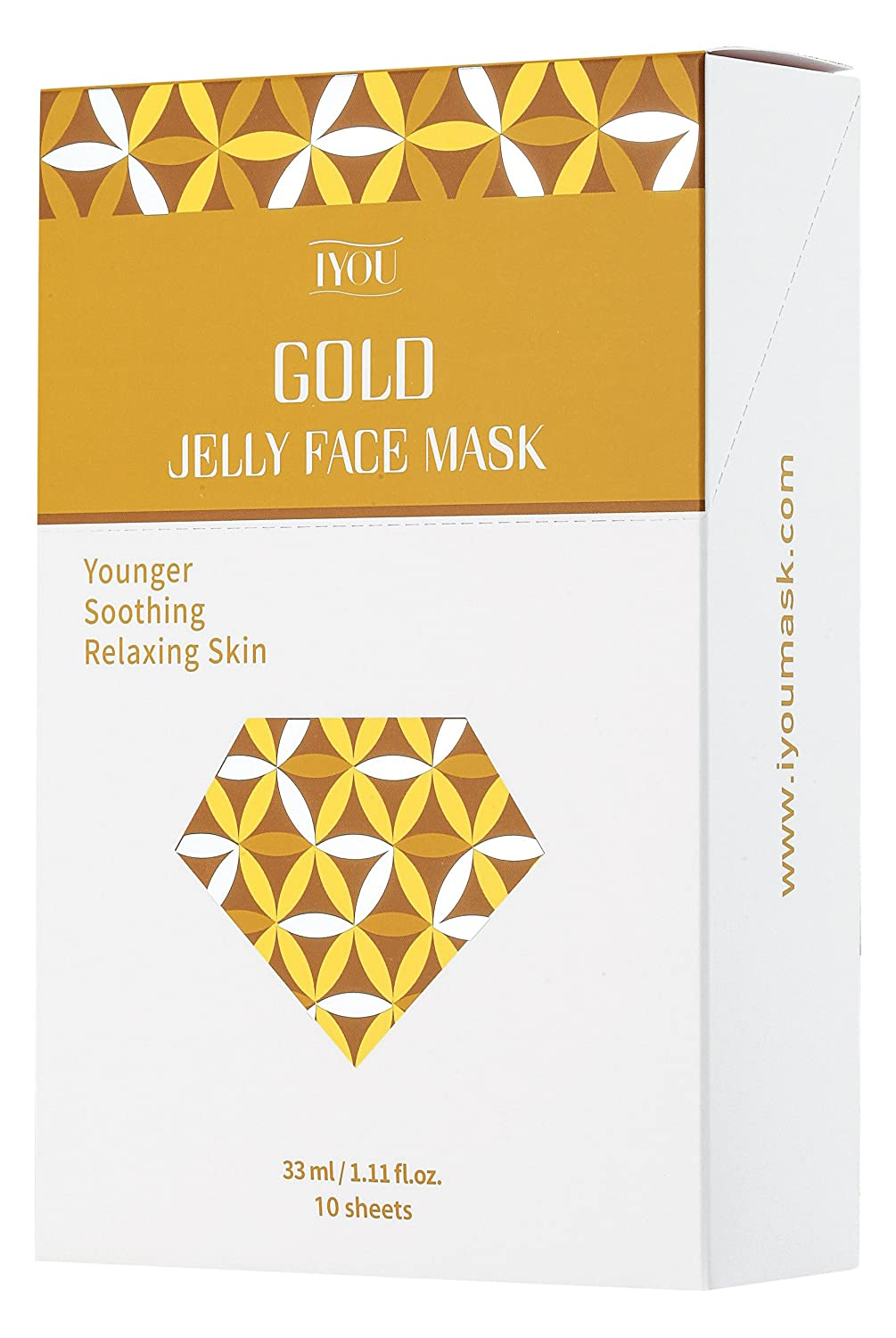 IYOU Gold Jelly Face Mask, 10 Sheets 810-r7ErlbL