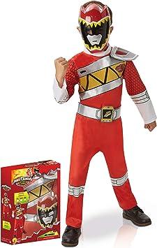Disfraz Power Rangers rojo deluxe Dino Charge - Caja 7-8 años (122 ...