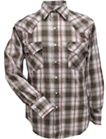 15202607RG-98/_X Ely Assorted Plaid or Stripe Short Sleeve Western Shirt