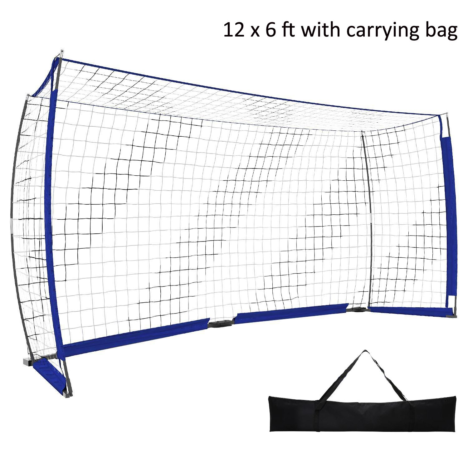 benletポータブルSoccer Football Goal Net with Bowフレームクイックセットアップ( Available in 12 x 6 ft、6 x 4 ft ) [米国ストック] B07BT2W82T 12 x 6 ft -Blue 12 x 6 ft -Blue