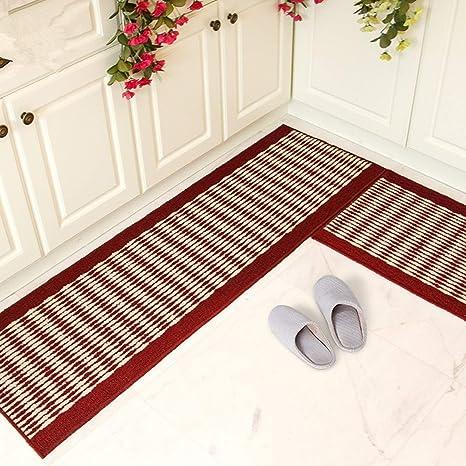 Amazon Com Ustide Kitchen Rug Set Kitchen Floor Rug Washable Floor