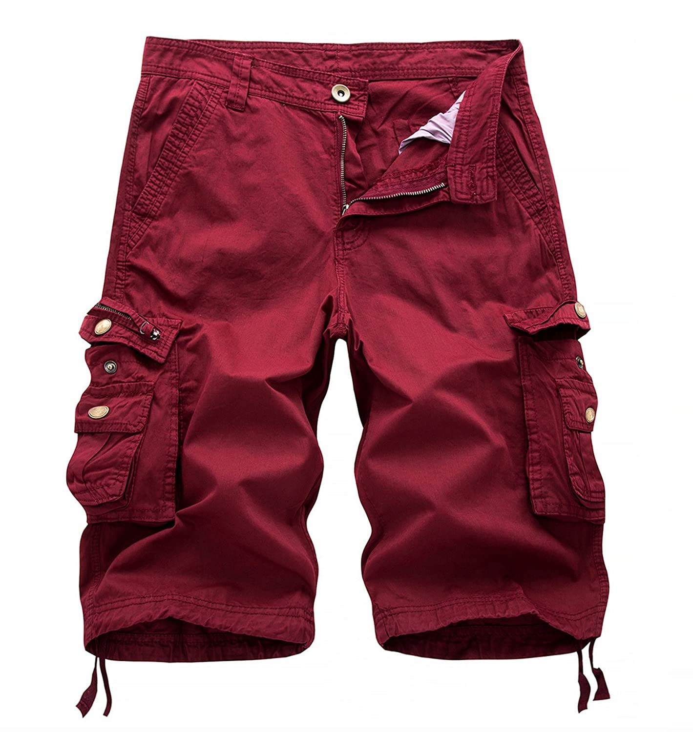 WSLCN Men's Cotton Combat Canvas Chino Cargo Shorts Divers Colors DK0351