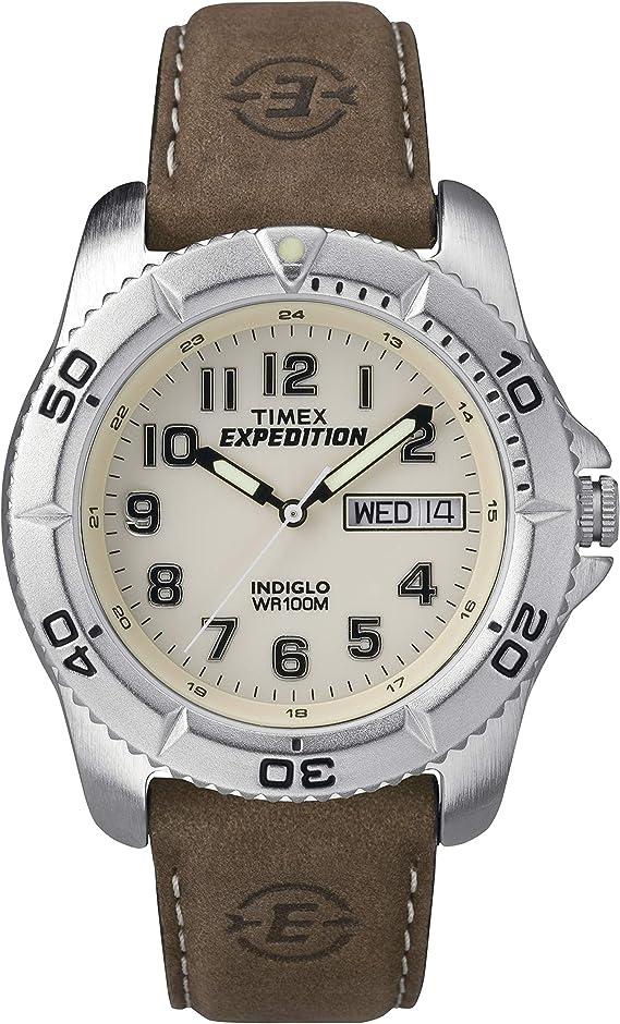 Timex Herren Armbanduhr Analog Leder Braun T46681d7 Timex Uhren