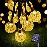 flintronic Cadena de Luces Led Solar, Guirnaldas Luces Exterior, 36ft/11m 60LED Guirnalda Solar LED Bola de Cristal…