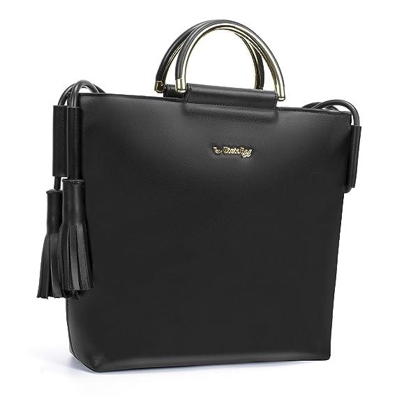 ca80ef9e2a40 UtoteBag Women Tote Bag Genuine Leather Shoulder Bag Matel Top ...