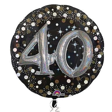 Anagram - Globo Supershape modelo 40 cumpleaños (81 x 81cm ...