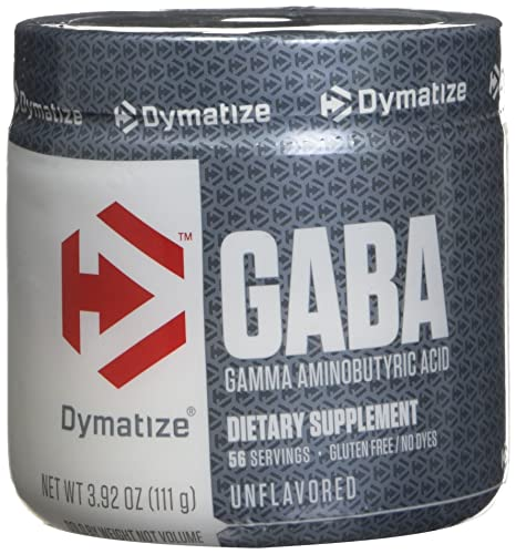 Dymatize - GABA - Gamma-Aminobutyric Acid - Growth Hormone Activator - 111g