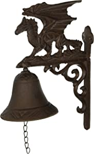 Design Toscano QH9029 Gothic Dragon of Murdock Manor Dinner Door Bell, 9 Inch, Faux Bronze