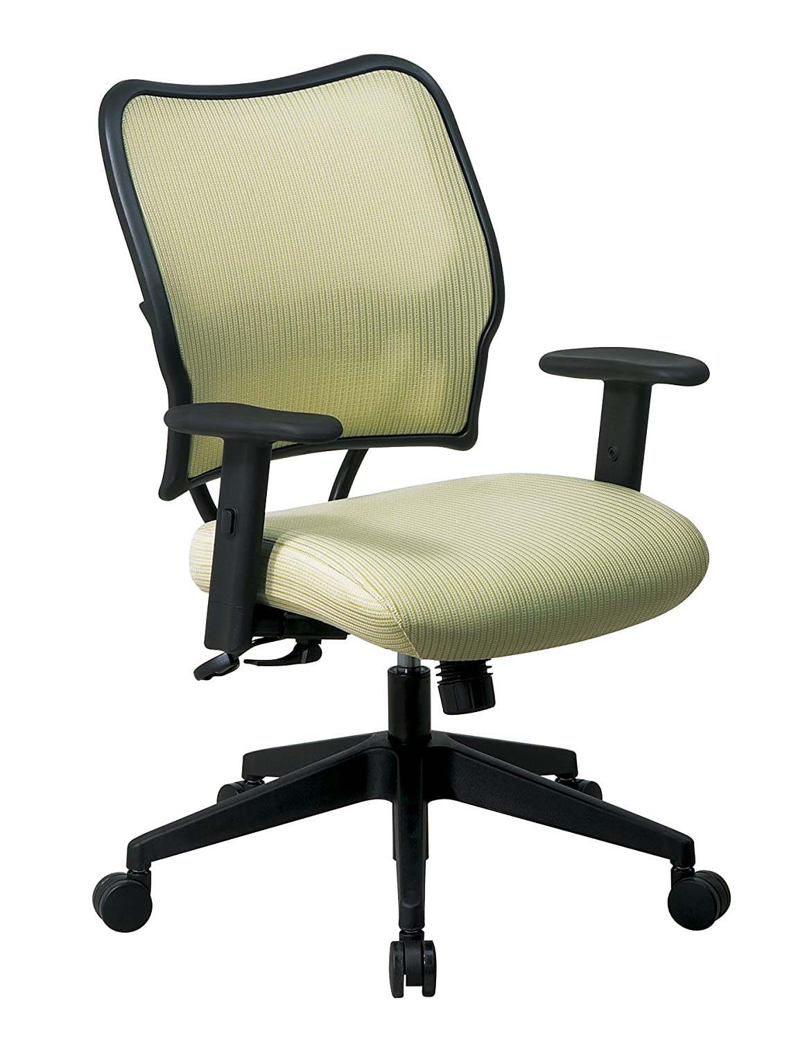 2-to-1 Synchro Tilt Control and 2-Way Adjustable Arms Managers Chair SPACE Seating Deluxe VeraFlex Fabric Seat and Back Blue Mist OFM 13-V77N1WA