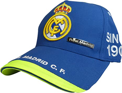 GORRA OFICIAL - REAL MADRID - AZUL ADULTO COTTON LIKE: Amazon.es ...
