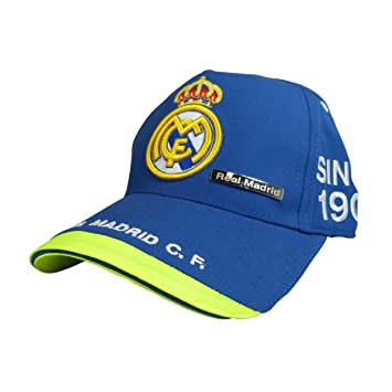 GORRA OFICIAL - REAL MADRID - AZUL ADULTO COTTON LIKE: Amazon.es: Deportes y aire libre