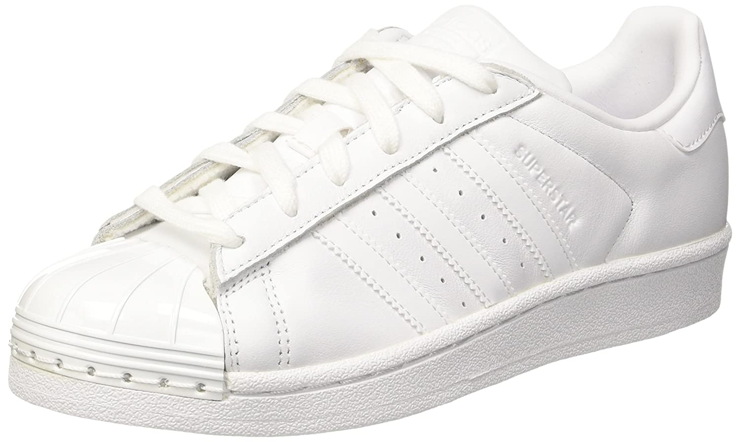 Adidas Superstar Metal Toe, Zapatillas para Mujer 39 1/3 EU|Blanco (Footwear White / Footwear White / Core Black)