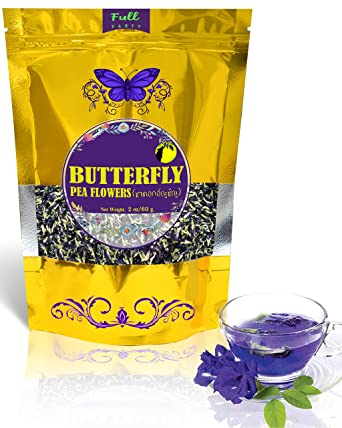Amazon Com Full Moon Party Butterfly Pea Flower Tea Organic Herbal Healthy Tea Drink From Smart Farm Blue Valley The Party Just Begin Full Moon 2 Oz Grocery Gourmet Food