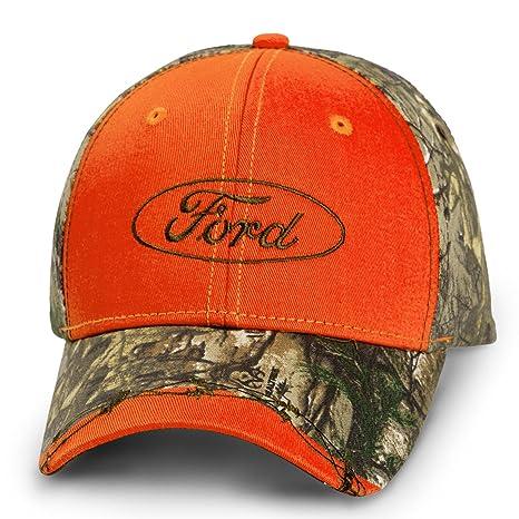 e137f1e13d9 Amazon.com  Ford Logo Realtree Camo Red Baseball Cap Hat  Automotive