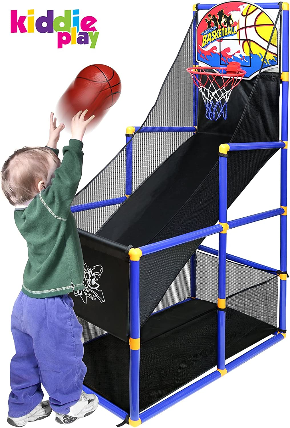 Best Portable Hoop Shooting Games for Kids Indoor /& Outdoor Mini Sports Playset Bundaloo Arcade Basketball Game Single Shot Arcade Fun Goal Training Toy for Little Toddlers to Big Boys