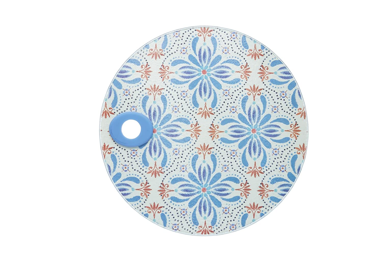 KitchenCraft \'Tile Print\' Toughened Glass Worktop Saver, 24 cm (9.5 ...